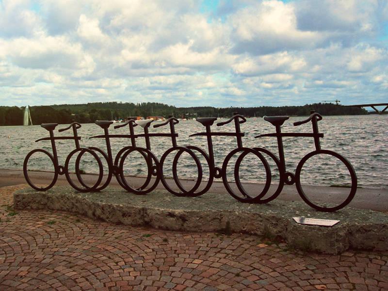Cykelskulptur Motala