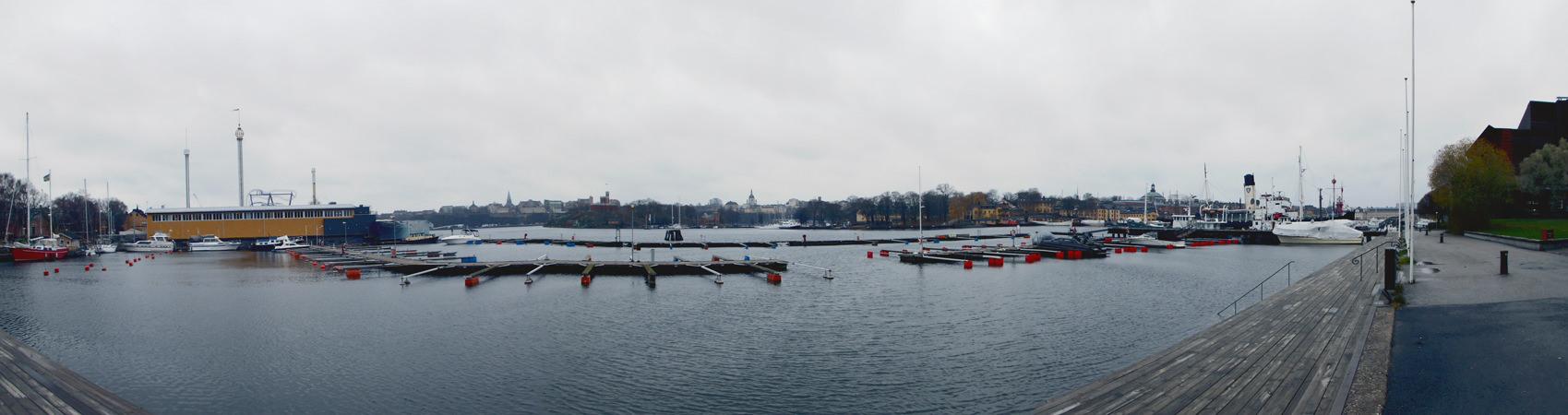 Panoramablick vom Spritmuseum gesehen