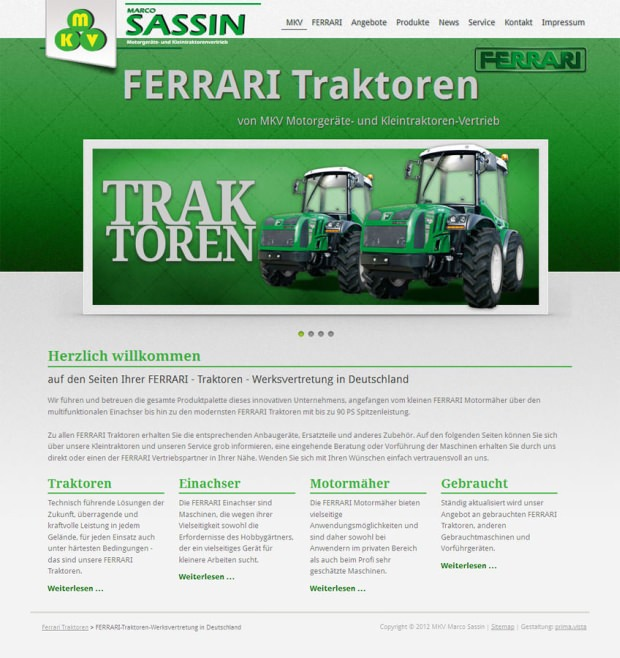 MKV Sassin / Ferrari Traktoren